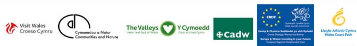 Visit Wales, Communities and Nature, The Valleys, CADW, ERDF, Wales Coast Park
